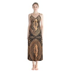 The Art Of Batik Printing Button Up Chiffon Maxi Dress