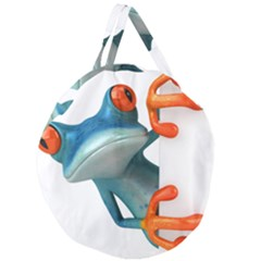 Tree Frog Illustration Giant Round Zipper Tote