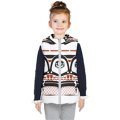 Traditional Northwest Coast Native Art Kid s Hooded Puffer Vest