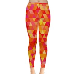 Triangle Tile Mosaic Pattern Inside Out Leggings