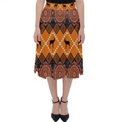 Traditiona  Patterns And African Patterns Folding Skater Skirt