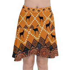 Traditiona  Patterns And African Patterns Chiffon Wrap by Sapixe