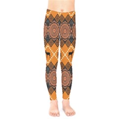 Traditiona  Patterns And African Patterns Kids  Legging by Sapixe