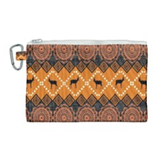 Traditiona  Patterns And African Patterns Canvas Cosmetic Bag (large)