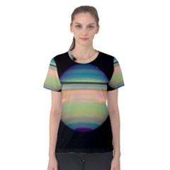True Color Variety Of The Planet Saturn Women s Cotton Tee