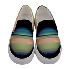 True Color Variety Of The Planet Saturn Women s Canvas Slip Ons