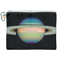 True Color Variety Of The Planet Saturn Canvas Cosmetic Bag (xxl)