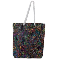 Trees Internet Multicolor Psychedelic Reddit Detailed Colors Full Print Rope Handle Tote (large) by Sapixe