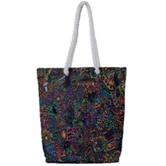 Trees Internet Multicolor Psychedelic Reddit Detailed Colors Full Print Rope Handle Tote (small) by Sapixe