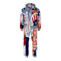 United States Of America Celebration Of Independence Day Uncle Sam Hooded Jumpsuit (kids) by Sapixe
