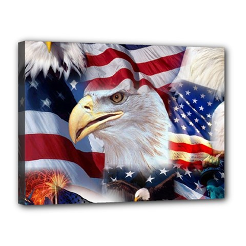 United States Of America Images Independence Day Canvas 16  X 12  by Sapixe