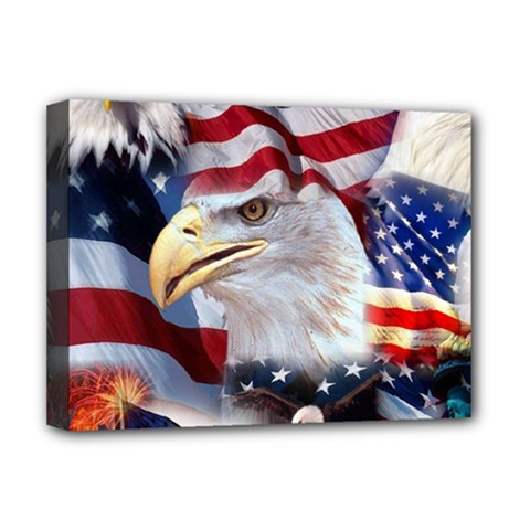 United States Of America Images Independence Day Deluxe Canvas 16  X 12   by Sapixe