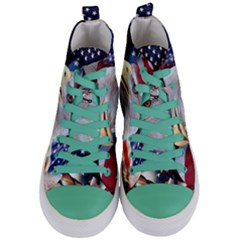 United States Of America Images Independence Day Women s Mid Top Canvas Sneakers