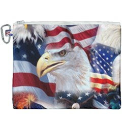 United States Of America Images Independence Day Canvas Cosmetic Bag (xxxl) by Sapixe