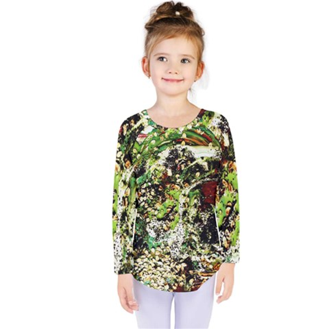 April   Birds Of Paradise 5 Kids  Long Sleeve Tee by bestdesignintheworld