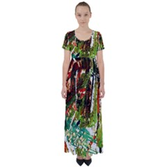 April   Birds Of Paradise High Waist Short Sleeve Maxi Dress