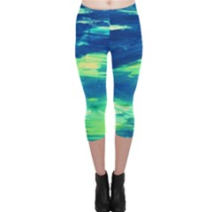 Sky Is The Limit Capri Leggings  by bestdesignintheworld