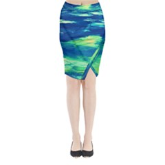 Sky Is The Limit Midi Wrap Pencil Skirt by bestdesignintheworld