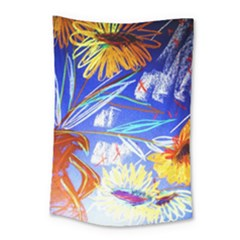 Ceramic Jur And Sunlowers Small Tapestry by bestdesignintheworld