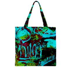 Monastery Estate Zipper Grocery Tote Bag