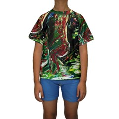 Moon Sonate Kids  Short Sleeve Swimwear by bestdesignintheworld