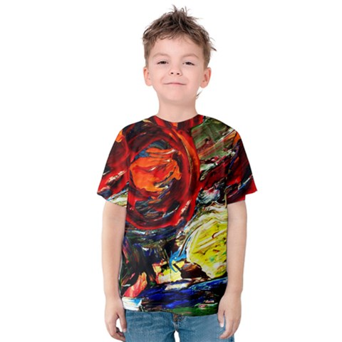 Red Sun In The Mountain Kids  Cotton Tee by bestdesignintheworld