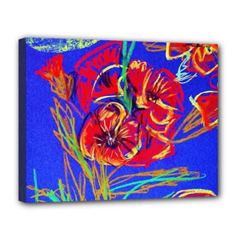 Red Poppies Canvas 14  X 11  by bestdesignintheworld