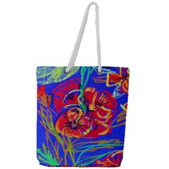 Red Poppies Full Print Rope Handle Tote (large) by bestdesignintheworld
