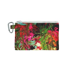 Sunset At The Footage Of Fudjiyama Canvas Cosmetic Bag (small)