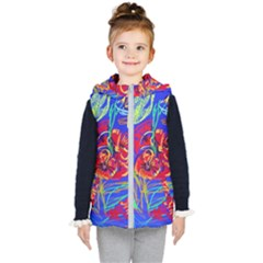 Dscf1376 -red Poppies Kid s Hooded Puffer Vest by bestdesignintheworld