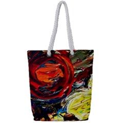 Dscf2280  Red Sun In The Mountain Full Print Rope Handle Tote (small)