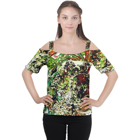 April   Birds Of Paradise 5 Cutout Shoulder Tee by bestdesignintheworld
