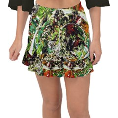 April   Birds Of Paradise 5 Fishtail Mini Chiffon Skirt by bestdesignintheworld