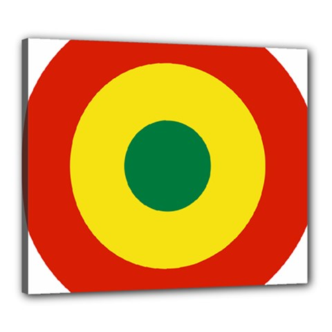Roundel Of Bolivian Air Force Canvas 24  X 20  by abbeyz71