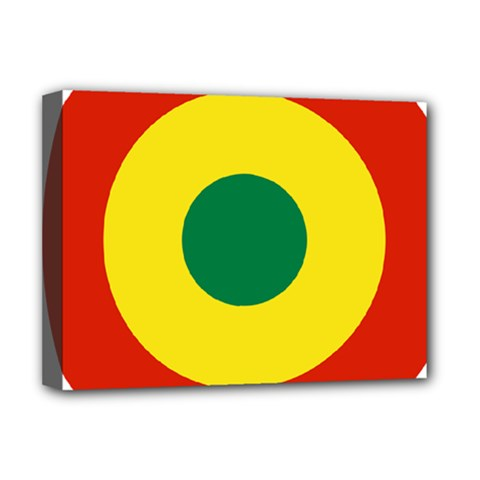 Roundel Of Bolivian Air Force Deluxe Canvas 16  X 12   by abbeyz71