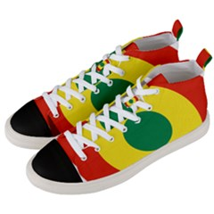 Roundel Of Bolivian Air Force Men s Mid Top Canvas Sneakers by abbeyz71