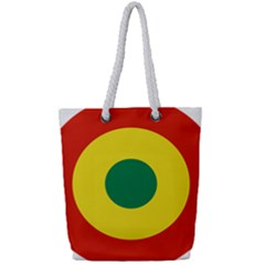 Roundel Of Bolivian Air Force Full Print Rope Handle Tote (small) by abbeyz71