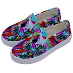 Dscf1472   Copy   Blooming Desert With Red Cactuses Kids  Canvas Slip Ons by bestdesignintheworld