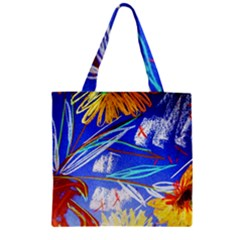 Dscf1385   Sunflowers In Ceramic Jur Zipper Grocery Tote Bag by bestdesignintheworld