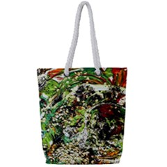 April   Birds Of Paradise 5 Full Print Rope Handle Tote (small) by bestdesignintheworld
