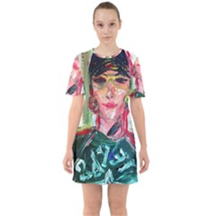 Dscf2299   Texan Girl Sixties Short Sleeve Mini Dress