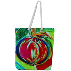 Dscf1458   Fruits Geometry Full Print Rope Handle Tote (large) by bestdesignintheworld