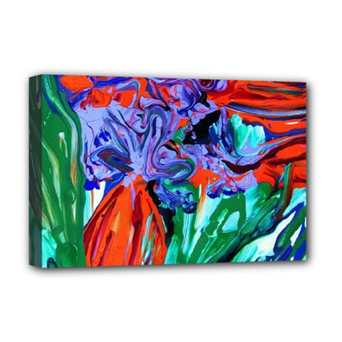 Dscf1366 - Birds Of Paradise Deluxe Canvas 18  X 12   by bestdesignintheworld