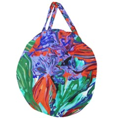 Dscf1366 - Birds Of Paradise Giant Round Zipper Tote