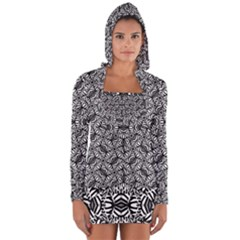 Modern Tribal Bold Pattern Long Sleeve Hooded T-shirt by dflcprints