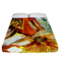 Dscf1503 - With Themis On A Shade Fitted Sheet (queen Size) by bestdesignintheworld