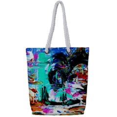 Dscf3313   Jerusalem   Gates Of Haven Full Print Rope Handle Tote (small) by bestdesignintheworld