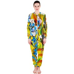 Dscf1422 - Country Flowers In The Yard Onepiece Jumpsuit (ladies)  by bestdesignintheworld