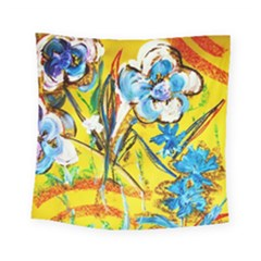 Dscf1422   Country Flowers In The Yard Square Tapestry (small) by bestdesignintheworld