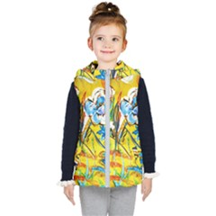 Dscf1422   Country Flowers In The Yard Kid s Hooded Puffer Vest